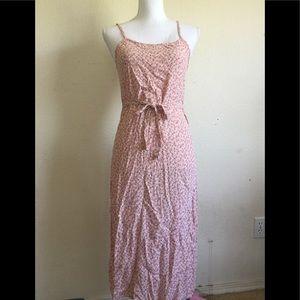 Brandy Melville pink floral Paulina tank dress